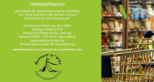 Die Ehrenamtler des JugendZeltplatz Wittenborn unterstützen bei der Kinderbetreuung, Einkäufen
