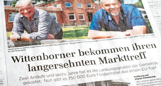Lübecker Nachrichten vom 27.05.20 – Wittenborner bekommen ihren langersehnten Markttreff