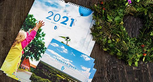 Verteilung der Gemeindekalender für 2021
