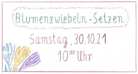 Blumenzwiebeln-Setzen: Samstag, 30. Oktober, 10:00 Uhr